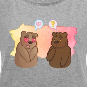 Bear Crush - Women's T-shirt with rolled up sleeves