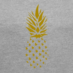 Pineapple Gold - Women's T-shirt with rolled up sleeves