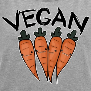 Vegan Carrot - Women's T-shirt with rolled up sleeves