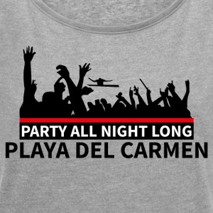 PLAYA DEL CARMEN - Party - T-shirt med upprullade ärmar dam