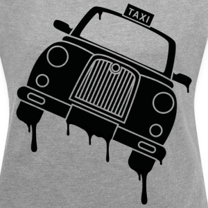 Taxi - Women's T-shirt with rolled up sleeves