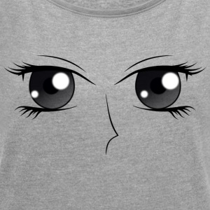 Eyes (H) - Women's T-shirt with rolled up sleeves