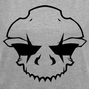 BAD_SKULL_2.0 - Women's T-shirt with rolled up sleeves