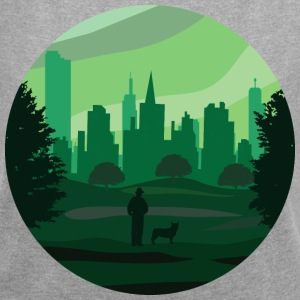 a green city - Women's T-shirt with rolled up sleeves