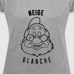 Neige_Blanche_Aubstd - Women's T-shirt with rolled up sleeves