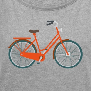 bicycle - Women's T-shirt with rolled up sleeves