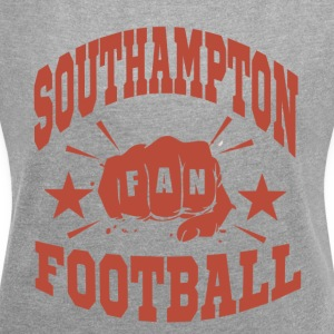 Southampton Football Fan - Frauen T-Shirt mit gerollten Ärmeln