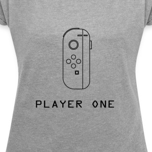 Player One Switch - Maglietta da donna con risvolti