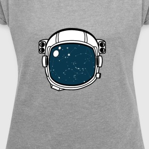 The space inside - Women's T-shirt with rolled up sleeves