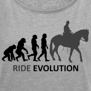 ++ ++ Ride Evolution - Women's T-shirt with rolled up sleeves