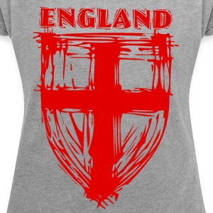 England_2 - Women's T-shirt with rolled up sleeves