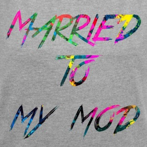 rainbow Married to my mod - Women's T-shirt with rolled up sleeves