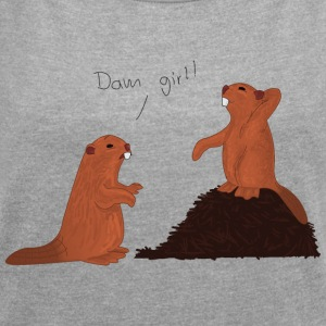 Dam Girl! - Women's T-shirt with rolled up sleeves