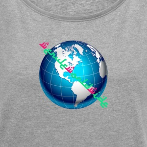 Weruleworldwide Globe v1 - Women's T-shirt with rolled up sleeves