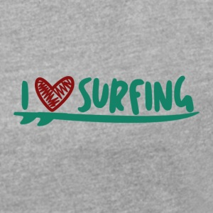 LOVE THE SURF - Women's T-shirt with rolled up sleeves