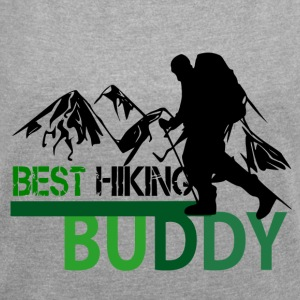 Best Hiking Buddy - Love to hike - Women's T-shirt with rolled up sleeves
