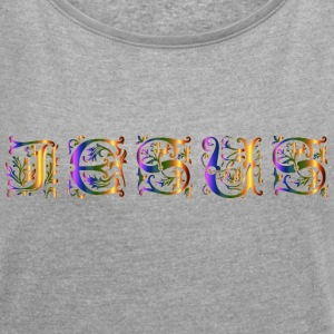 Jesus - Women's T-shirt with rolled up sleeves
