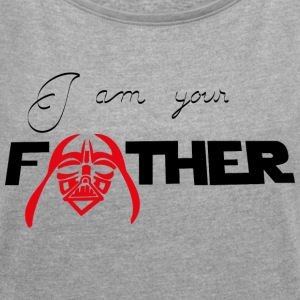I Am Your Father - T-skjorte med rulleermer for kvinner