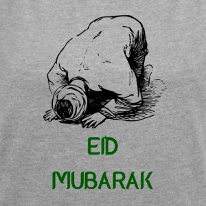 PROUD MUSLIM EID MUBARAK - Women's T-shirt with rolled up sleeves