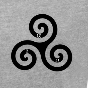 alpha beta omega triskelion - Women's T-shirt with rolled up sleeves