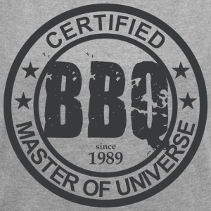 Certified BBQ Master 1989 Grillmeister - Women's T-shirt with rolled up sleeves