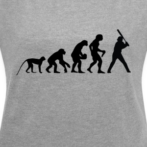 I love baseball - Women's T-shirt with rolled up sleeves