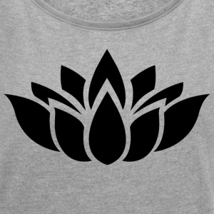 lotus flower - Women's T-shirt with rolled up sleeves