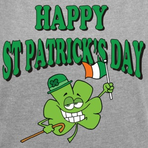 Happy St Patrick's Day - Women's T-shirt with rolled up sleeves