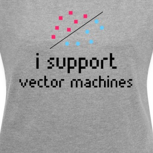 Machine Learning, Support Vector Machine - Frauen T-Shirt mit gerollten Ärmeln