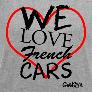 #welovefrenchcars by GusiStyle - Women's T-shirt with rolled up sleeves