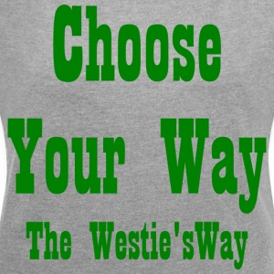 Choose Your Way Green - Women's T-shirt with rolled up sleeves