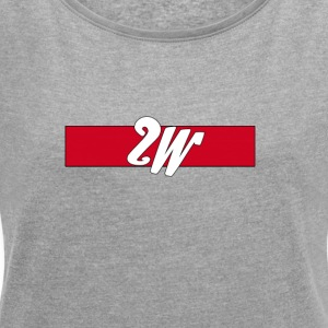 2w - Women's T-shirt with rolled up sleeves
