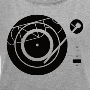 Kynda Music turntable - Women's T-shirt with rolled up sleeves
