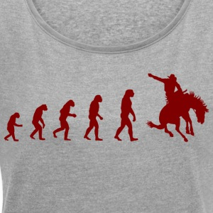 Shirt Cowboy Evolution - Women's T-shirt with rolled up sleeves