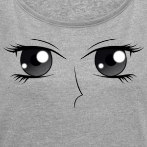 Eyes (D) - Women's T-shirt with rolled up sleeves