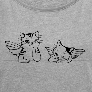 CAT / CAT - Women's T-shirt with rolled up sleeves