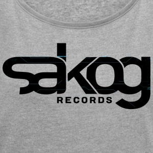 Sakog Records - Women's T-shirt with rolled up sleeves