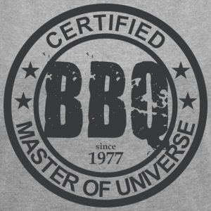 Certified BBQ Master 1977 Grillmeister - Women's T-shirt with rolled up sleeves