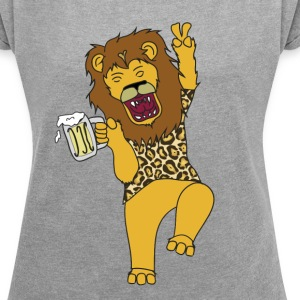 Drunk King - Women's T-shirt with rolled up sleeves