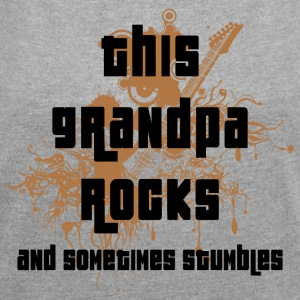Grandpa Rocks and Stumbles - Women's T-shirt with rolled up sleeves