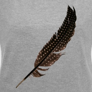 Guinea Fowl Feather - Dame T-shirt med rulleærmer