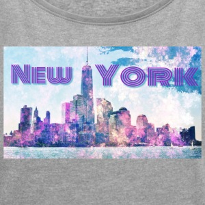 new York - Women's T-shirt with rolled up sleeves
