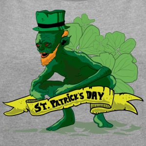 St Patricks Day - Leprechaun - Women's T-shirt with rolled up sleeves