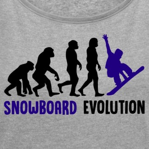 ++ ++ Snowboard Evolution - Women's T-shirt with rolled up sleeves