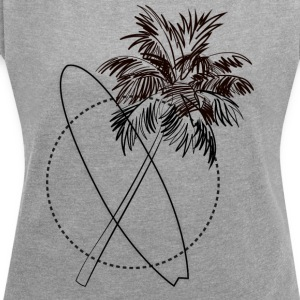 Summervibe - Women's T-shirt with rolled up sleeves