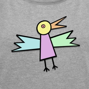 Ugly Bird - Women's T-shirt with rolled up sleeves