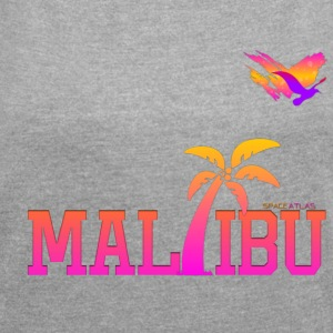 Space Atlas Ladies T-shirt Malibu - Women's T-shirt with rolled up sleeves