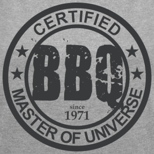 Certified BBQ Master 1971 Grillmeister - Women's T-shirt with rolled up sleeves