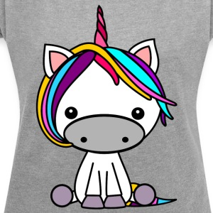 Unicorn stained - Women's T-shirt with rolled up sleeves