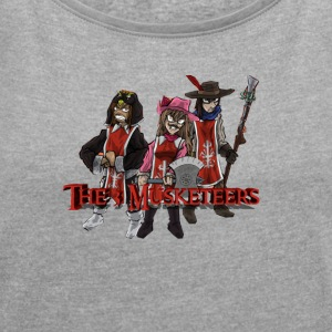 3 Musketeers - Women's T-shirt with rolled up sleeves